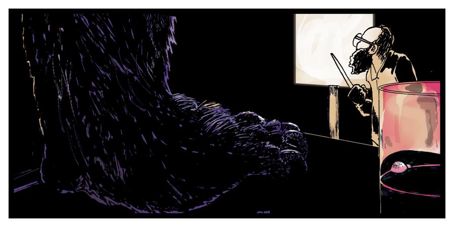 Monomania panel one.