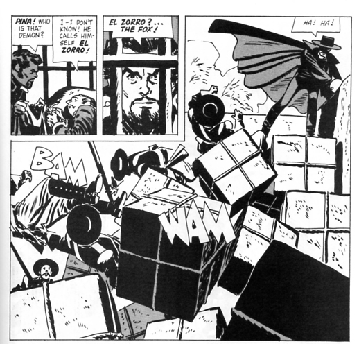 Toth draws Zorro vs. Cubes